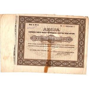 Lesienicka Fabryka Drożdży Prasowanych i Spirytusu - 100 złotych 1929