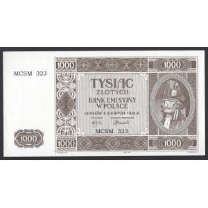 Rekonstrukcja - 1000 złotych 1941 (2004) Krakowiak - numeracja 323