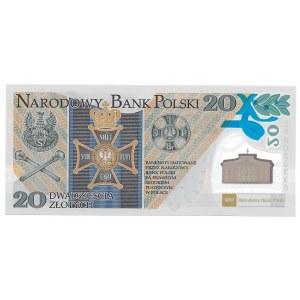 20 złotych 2014 - Legiony Polskie - banknot polimerowy