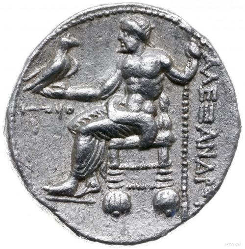 tetradrachma 316-315 pne, mennica Ake (Fenicja); Aw: Gł...
