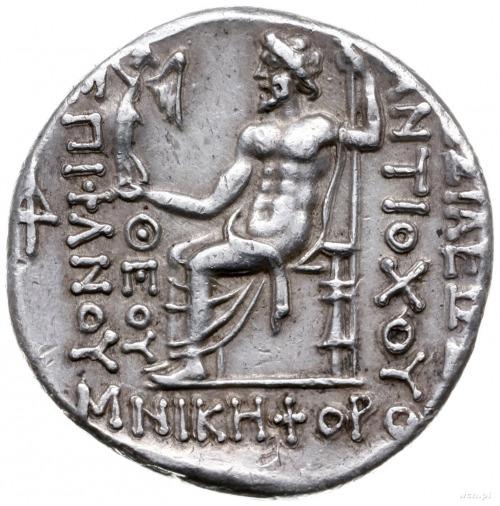 tetradrachma ok. 168-164 pne, Antiochia; Aw: Głowa król...