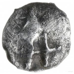 anonimowy denar ok. 1375-1384, Troki? Łuck?; Aw: Grot w...