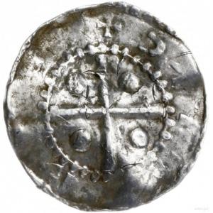 denar 1002-1024, mennica Deventer; Aw: Dłoń opatrzności...