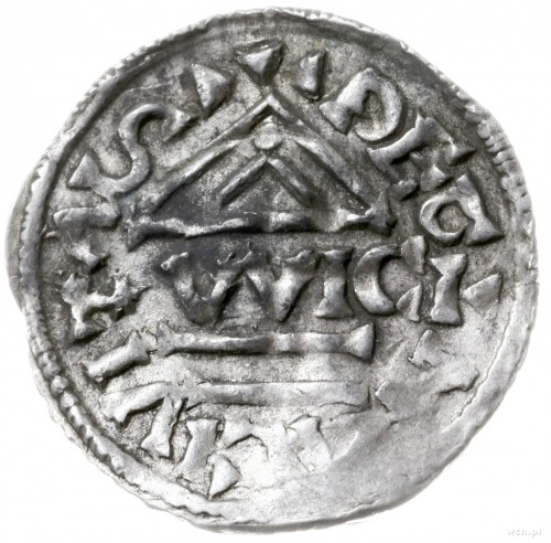 denar 995-1002, Ratyzbona, mincerz Viga; Hahn 25e2.2; s...