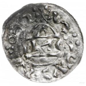 naśladownictwo denara ratyzbońskiego z lat 1002-1009; H...