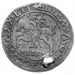trojak szyderczy 1565, Wilno; Aw: Pogoń w lewo, poniżej...