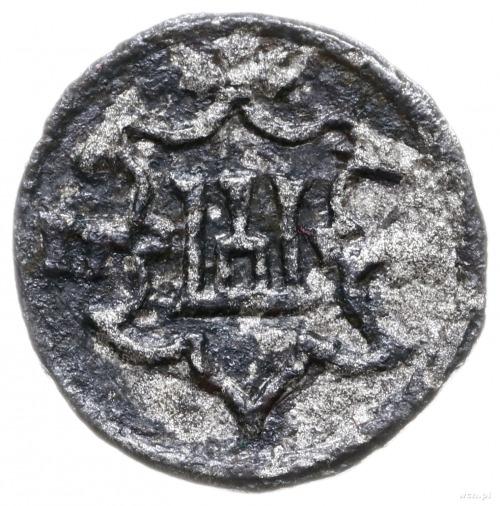 obol 1546, Wilno; Aw: Monogram SA w obwódce, Rw: Herb K...