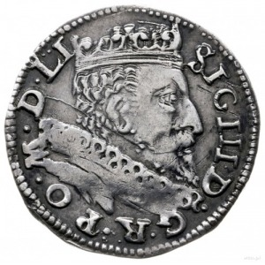 trojak 1601, Wilno; litera V pod herbem Łabędź (Andrzej...