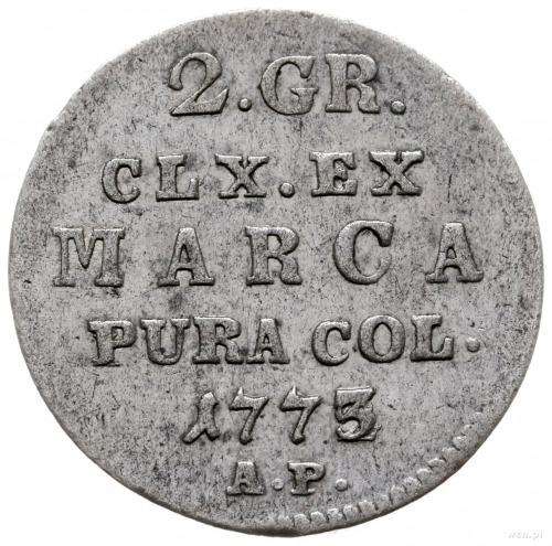 półzłotek 1773/A.P. (inicjały Antoniego Partensteina), ...
