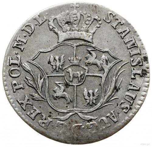 półzłotek 1775/E.B., Warszawa; wieniec wąsko związany, ...