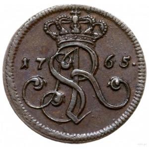 grosz 1765/g, Kraków; odmiana z małą literą g pod tarcz...