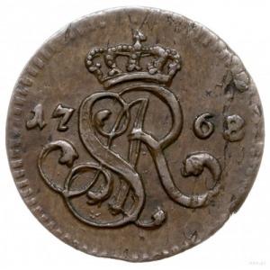 1/2 grosza 1768/G, Kraków; duży monogram; Plage 14, Pla...