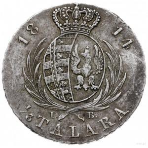 1/3 talara (dwuzłotówka) 1814 I.B., Warszawa; Plage 113...