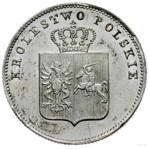 2 złote 1831, Warszawa; odmiana z kropką po POL i Pogon...