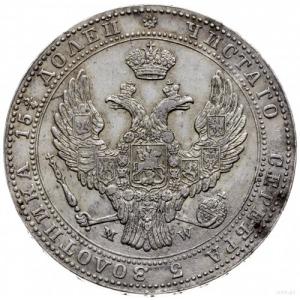 3/4 rubla = 5 złotych 1840 M-W, Warszawa; ogon Orła uło...