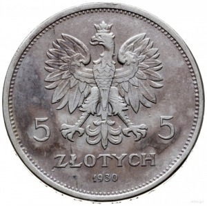 """5 złotych 1930, Warszawa; """"Sztandar"""" - 100-lecie Powsta..."""
