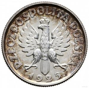 """2 złote 1925 """"z kropką po dacie"""", Londyn; popiersie kob..."""