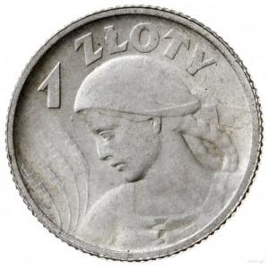 1 złoty 1924, Paryż; popiersie kobiety z kłosami; Parch...