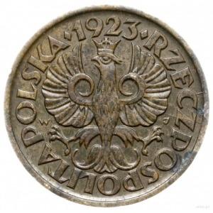 5 groszy 1923, Warszawa; na rewersie data 12 IV 24 i mo...