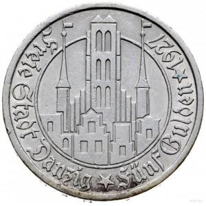 5 guldenów 1927, Berlin; Kościół Marii Panny; Jaeger D....