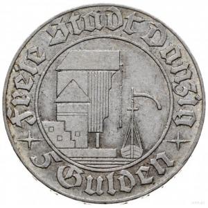 5 guldenów 1932, Berlin; Żuraw portowy; Jaeger D.18, Pa...