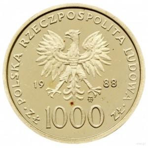 1.000 złotych 1988, Warszawa; Jan Paweł II - moneta na ...