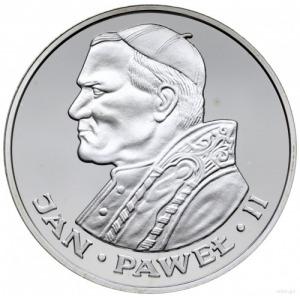 100 złotych 1986, Szwajcaria; Jan Paweł II; srebro 30 m...