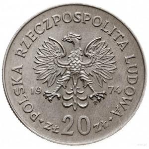 20 złotych 1974, Warszawa; Marceli Nowotko, na rewersie...
