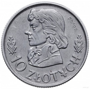 10 złotych 1958, Warszawa; Tadeusz Kościuszko, na rewer...