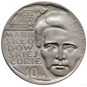 10 złotych 1967, Warszawa; Setna rocznica urodzin Marii...