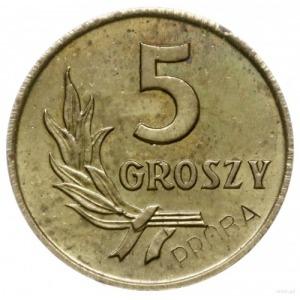 5 groszy 1958, Warszawa; na rewersie wklęsły napis PRÓB...