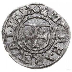 szeląg 1540, Tallin; odmiana z treflami po bokach daty;...