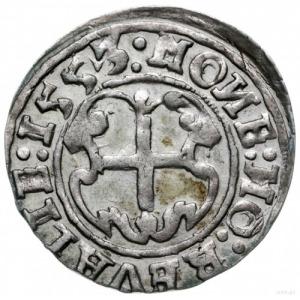 ferding 1553, Tallin; ozdobna tarcza na rewersie; Halja...