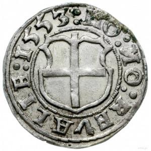 ferding 1553, Tallin; zwykła tarcza na rewersie; Haljak...