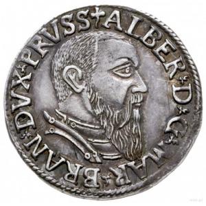 trojak 1542, Królewiec; Iger Pr.42.1.a (R); patyna, pię...