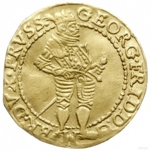 dukat 1596, Królewiec; Aw: Książe stojący w prawo i nap...