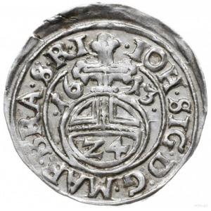 grosz (1/24 talara) 1613, Drezdenko; na awersie końcówk...