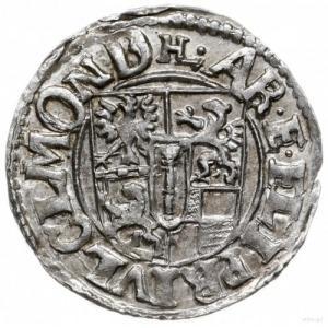grosz (1/24 talara) 1614, Drezdenko; skrócona data nad ...