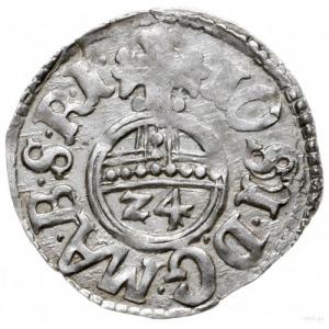 grosz (1/24 talara) 1615, Drezdenko; odmiana z pełną da...