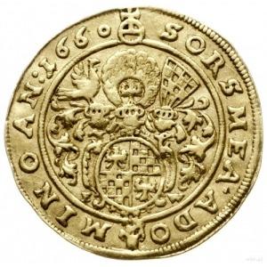 dukat 1660, Brzeg; Aw: Popiersie w prawo i napis wokoło...