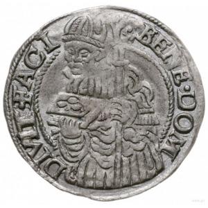 grosz 1560, Cieszyn; Aw: Orzeł górnośląski i napis woko...