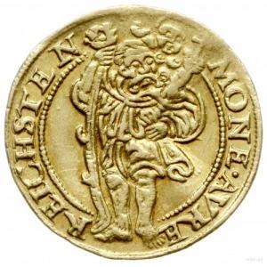 dukat 1550, Złoty Stok; Aw: Tarcza herbowa i napis woko...