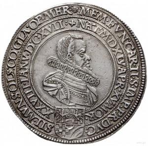 talar pośmiertny 1617, Oleśnica, Aw: Popiersie w prawo ...