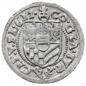 3 krajcary 1612, Oleśnica; popiersie w wąskiej kryzie; ...