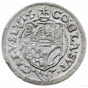 3 krajcary 1614, Oleśnica; odmiana z omyłkowo odwróconą...