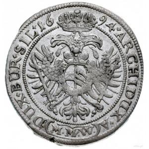 15 krajcarów 1694 (M.M.W), Wrocław; F.u.S. 602, Herinek...