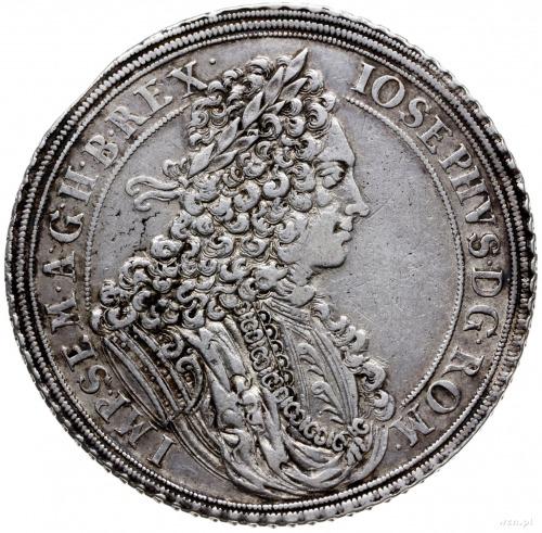 talar 1711, Wrocław; Aw: Popiersie w prawo i napis woko...