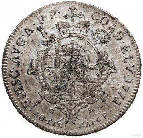 talar 1771, Koblencja; Aw: Popiersie w prawo i napis wo...