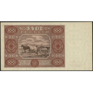 100 złotych 15.07.1947; seria D, numeracja 9946435; Luc...