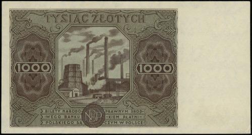 1.000 złotych 15.07.1947; seria A, numeracja 1712632; L...